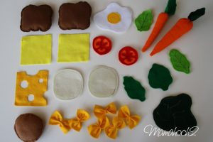 Playfood – Tutorial Spielessen aus Filz nähen