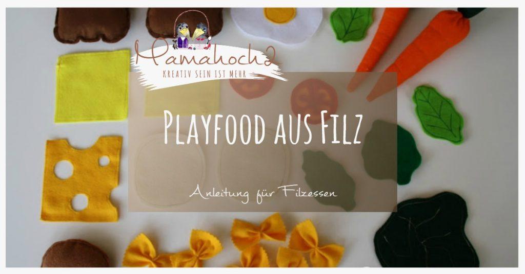 Playfood Filz Kinderküche Filzessen Nähen