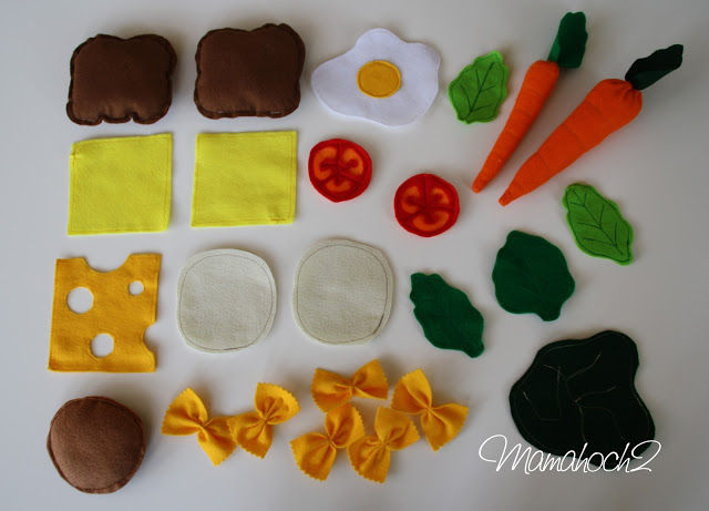 Playfood Spielessen Kinderküche Filz Tutorial
