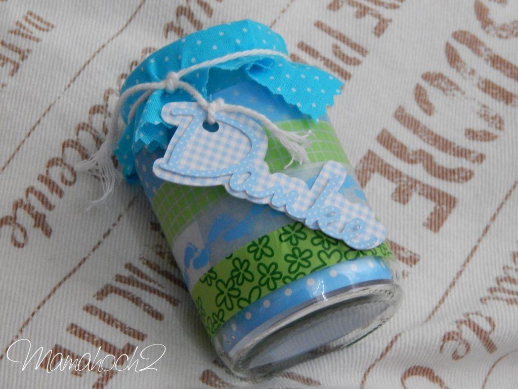 Babydankesgläschen DIY Anleitung Geburtsgeschenk
