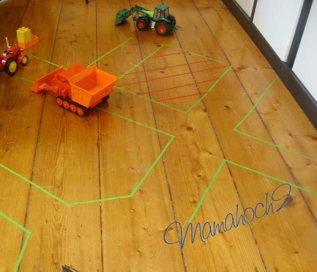Masking Tape Ideen DIY Straßen für kleine Autofahrer4
