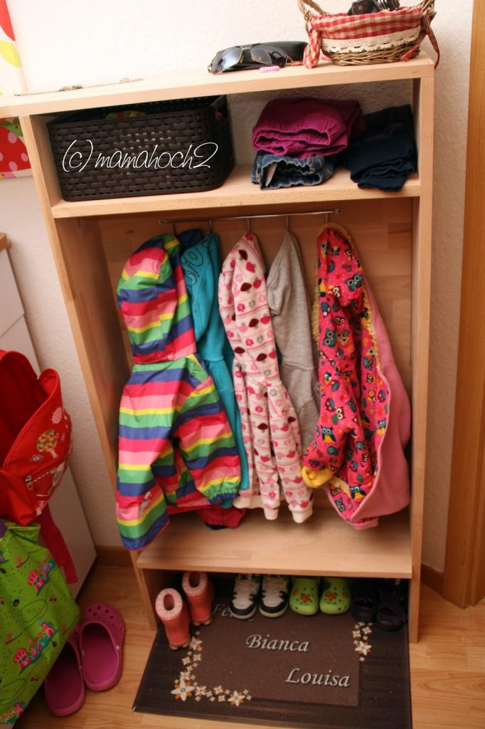 diy kindergarderobe mamahoch2. Black Bedroom Furniture Sets. Home Design Ideas