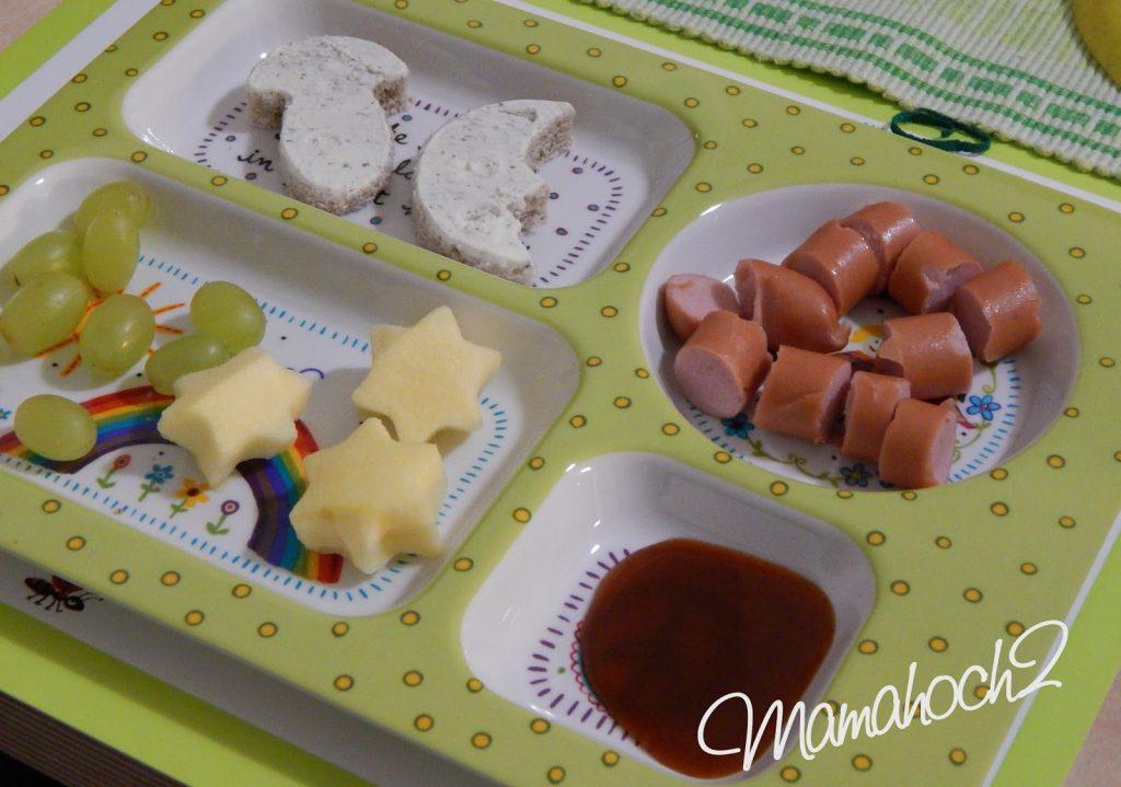 Kindertablett Melamin mit Essen Ausstechformen