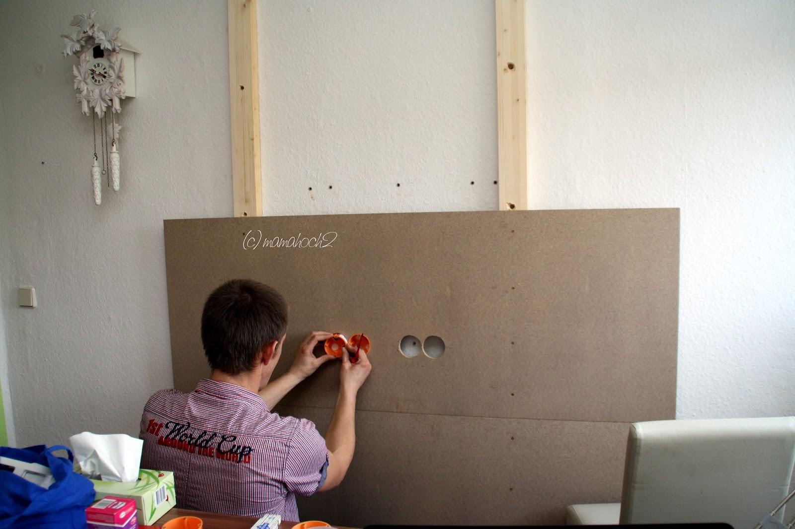 Wand Mit Hintergrundbeleuchtung DIY1