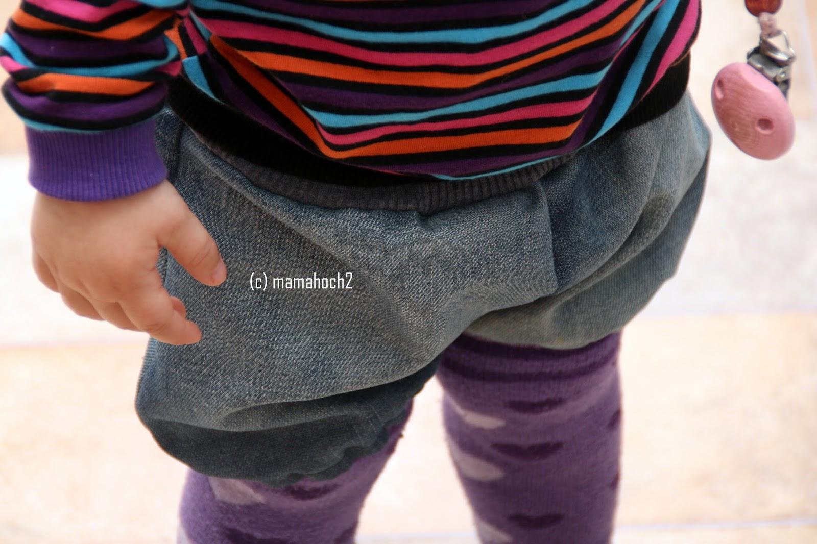 Knickerbocker Rosa Rosa aus alter Jeans upcycling2