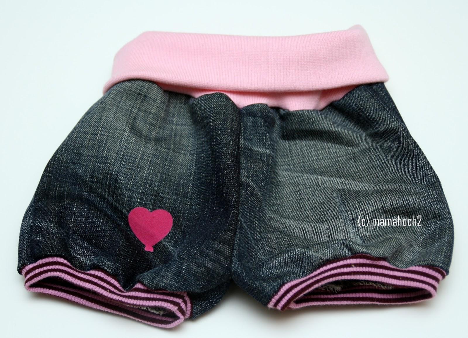 Knickerbocker Rosa Rosa aus alter Jeans upcycling4