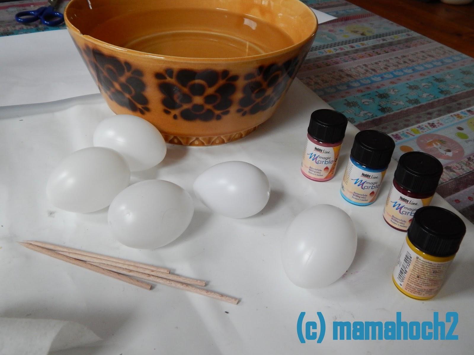 Ostereier marmoriert DIY