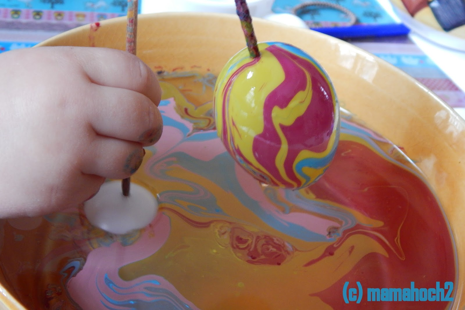 Ostereier marmoriert DIY7