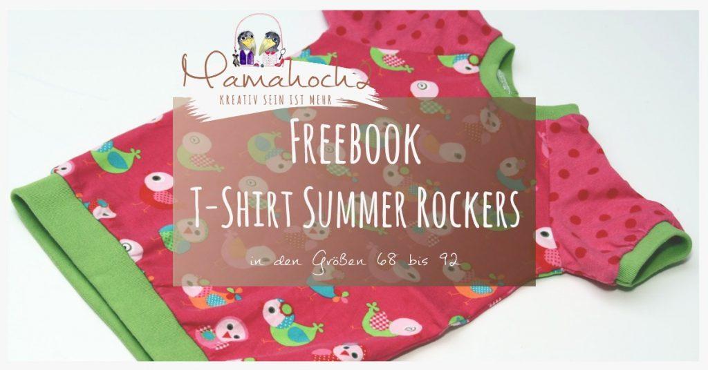Nähanleitung - Freebook T-Shirt Summer Rockers Gr. 68 von bis 92 ...
