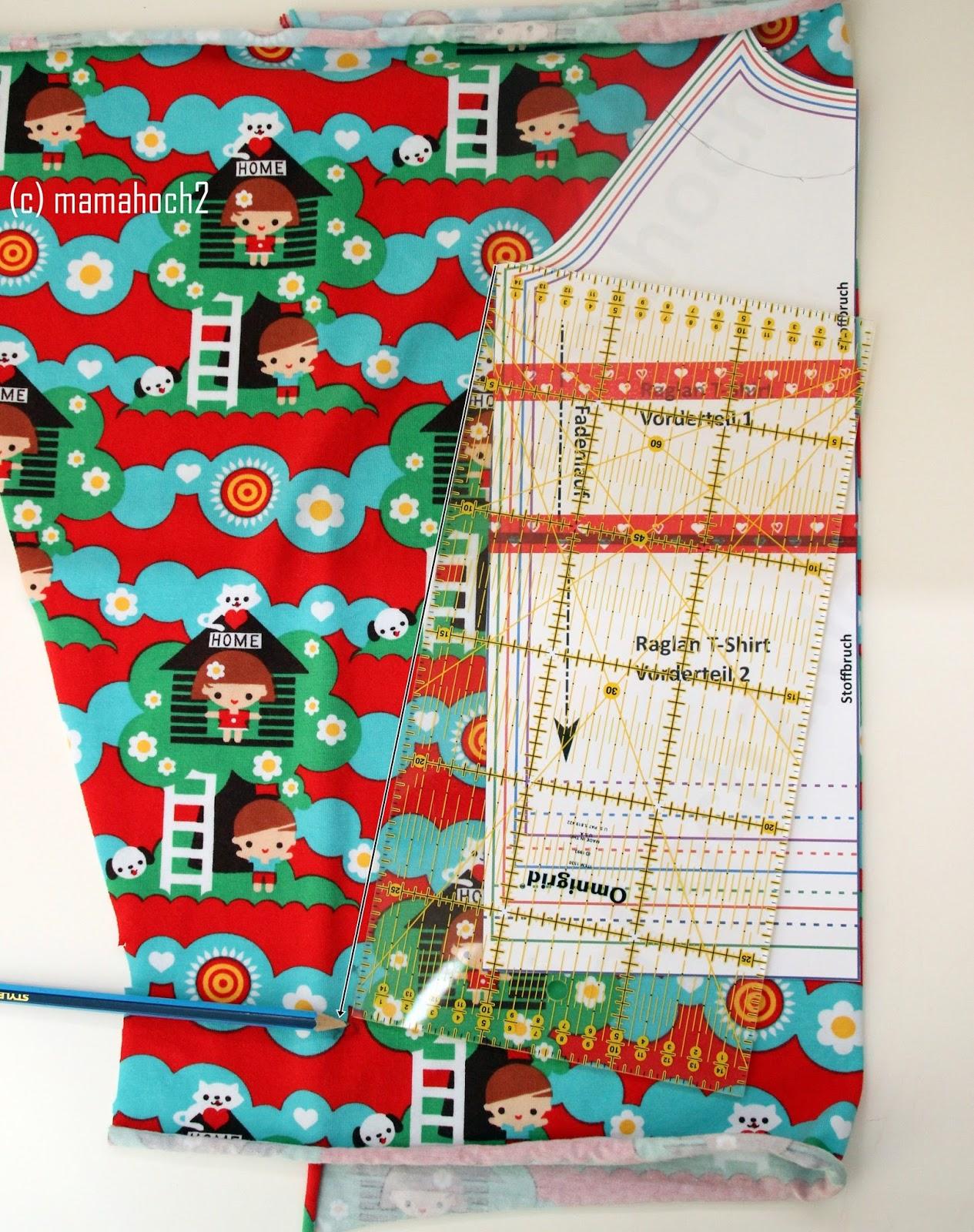 Nähanleitung Raglan Tunika oder A-Form-Kleid2