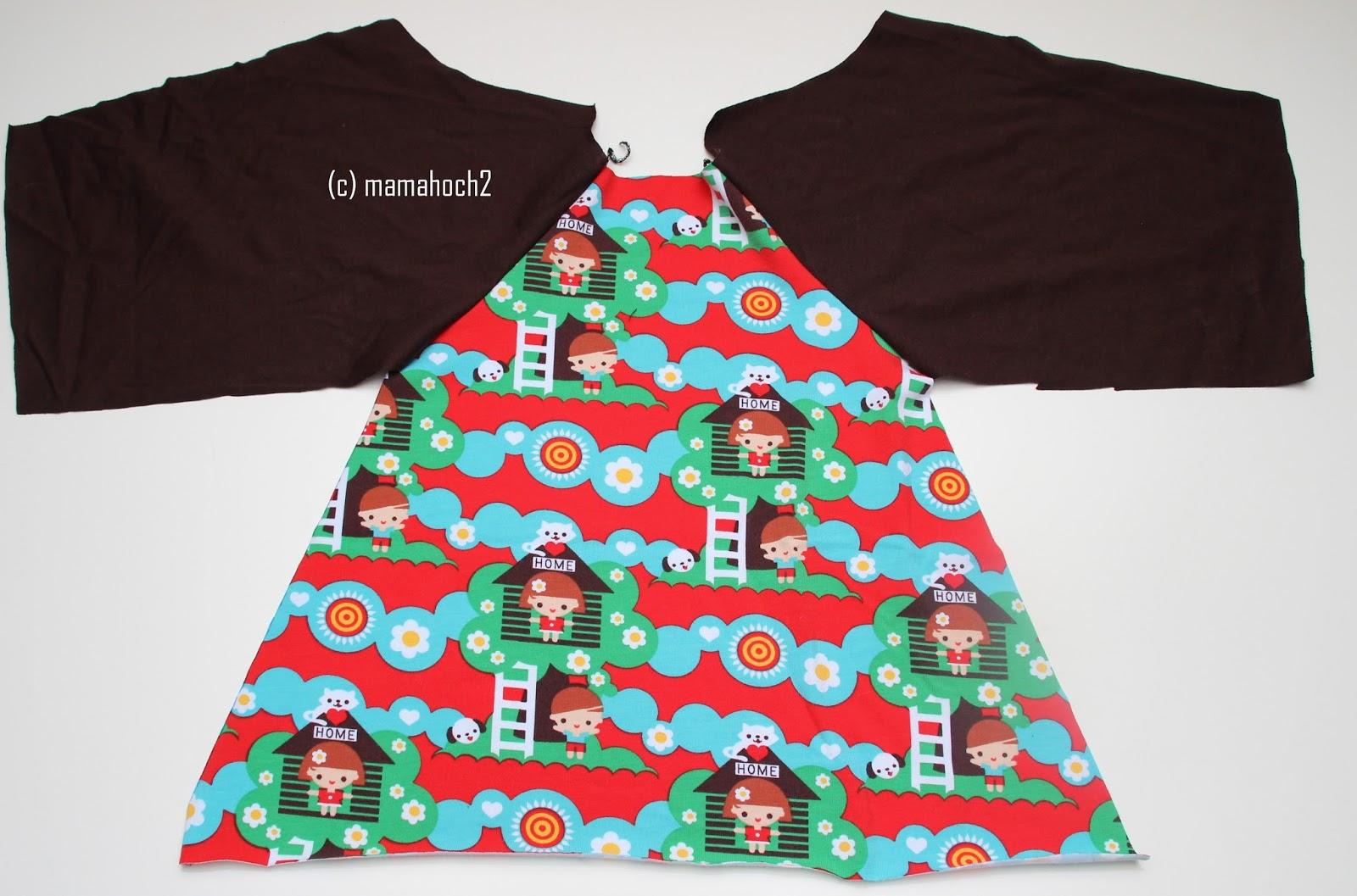 Nähanleitung Raglan Tunika oder A-Form-Kleid6
