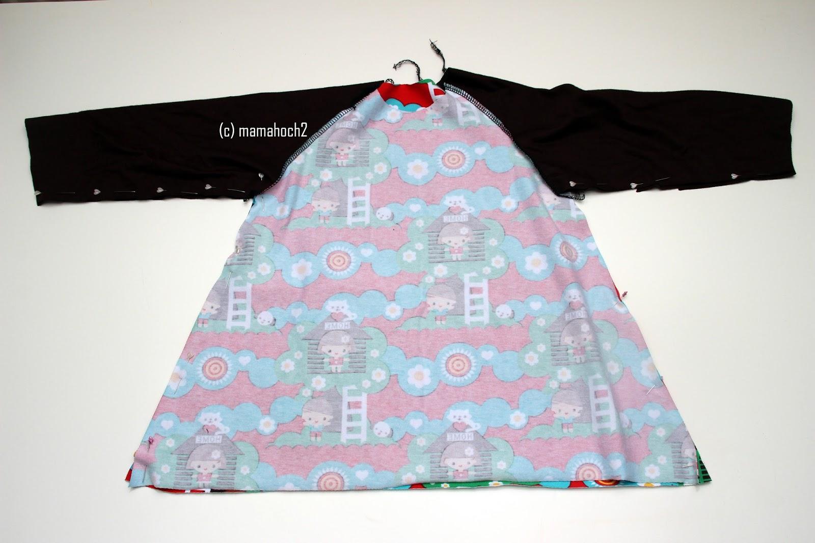 Nähanleitung Raglan Tunika oder A-Form-Kleid7