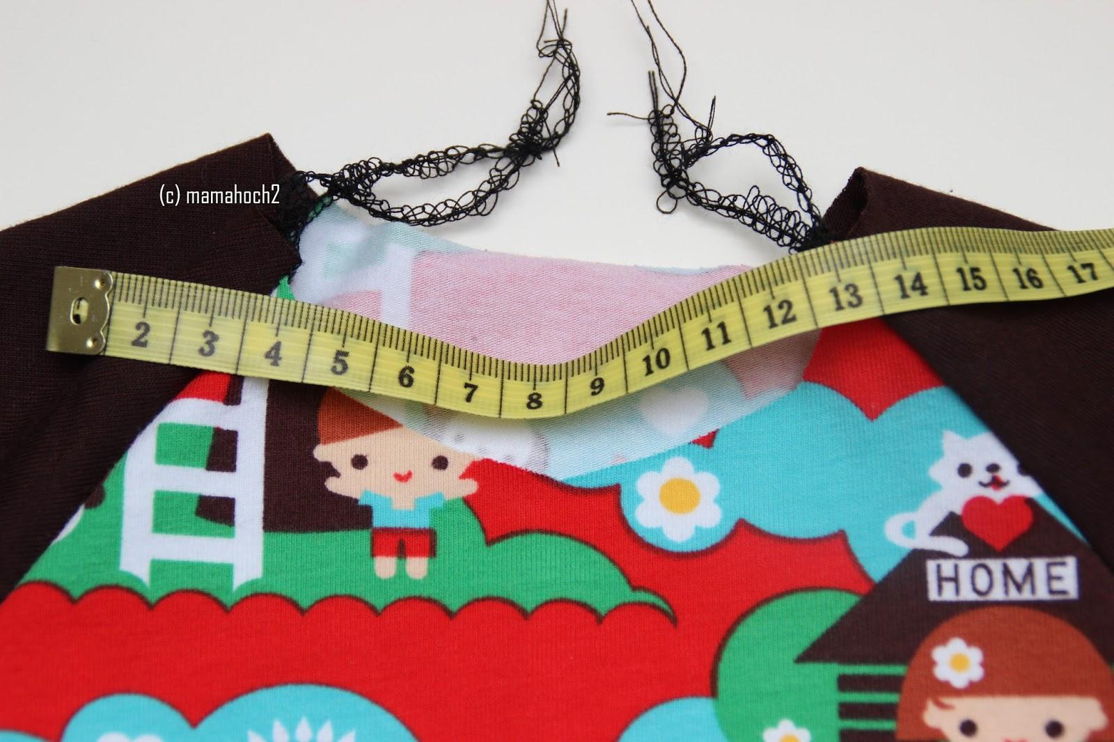 Nähanleitung Raglan Tunika oder A-Form-Kleid8