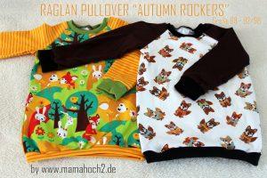 Autumn Rockers Raglan Pullover Nähanleitung Freebook
