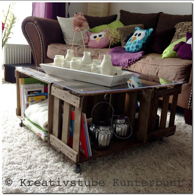 Freebooktratsch Kreativstube Kunterbunt Der Tisch aus Kisten – so schön Shabby bzw. Vintage