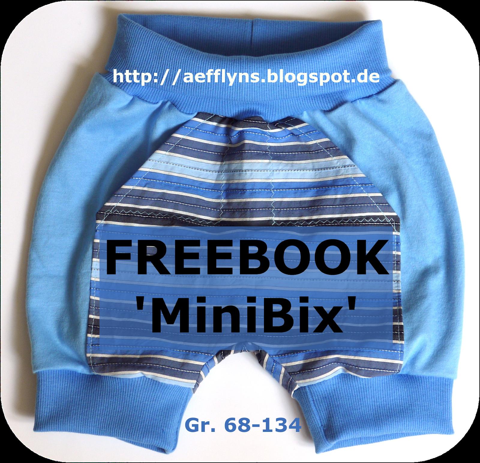 """Freebooktratsch aefflyns mit der Stoffmixhose """"MiniBix"""""""
