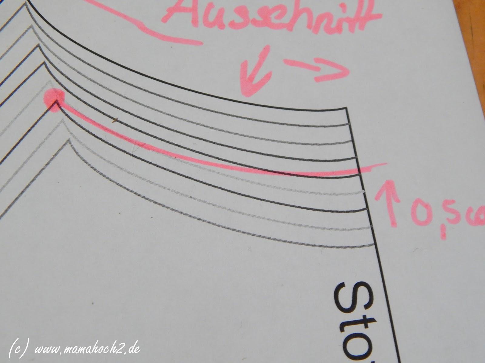 Schnittmuster anpassen: Halsaussschnitt vergrößern/verkleinern ...