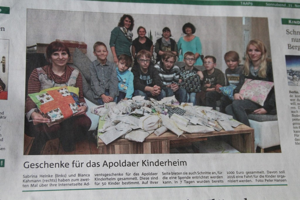 Spendenaktion 2015
