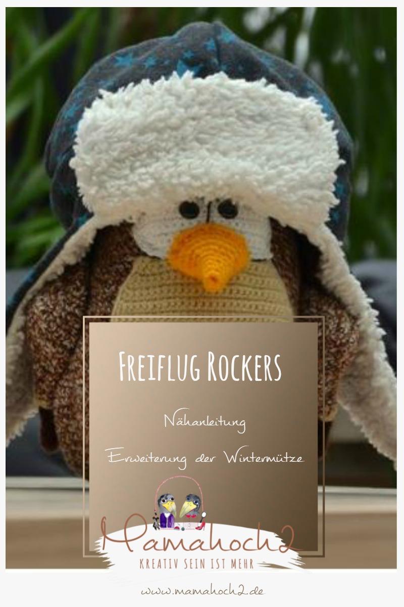 Erweiterung der Mamahoch2 Wintermütze Freiflug Rockers Nähanleitung