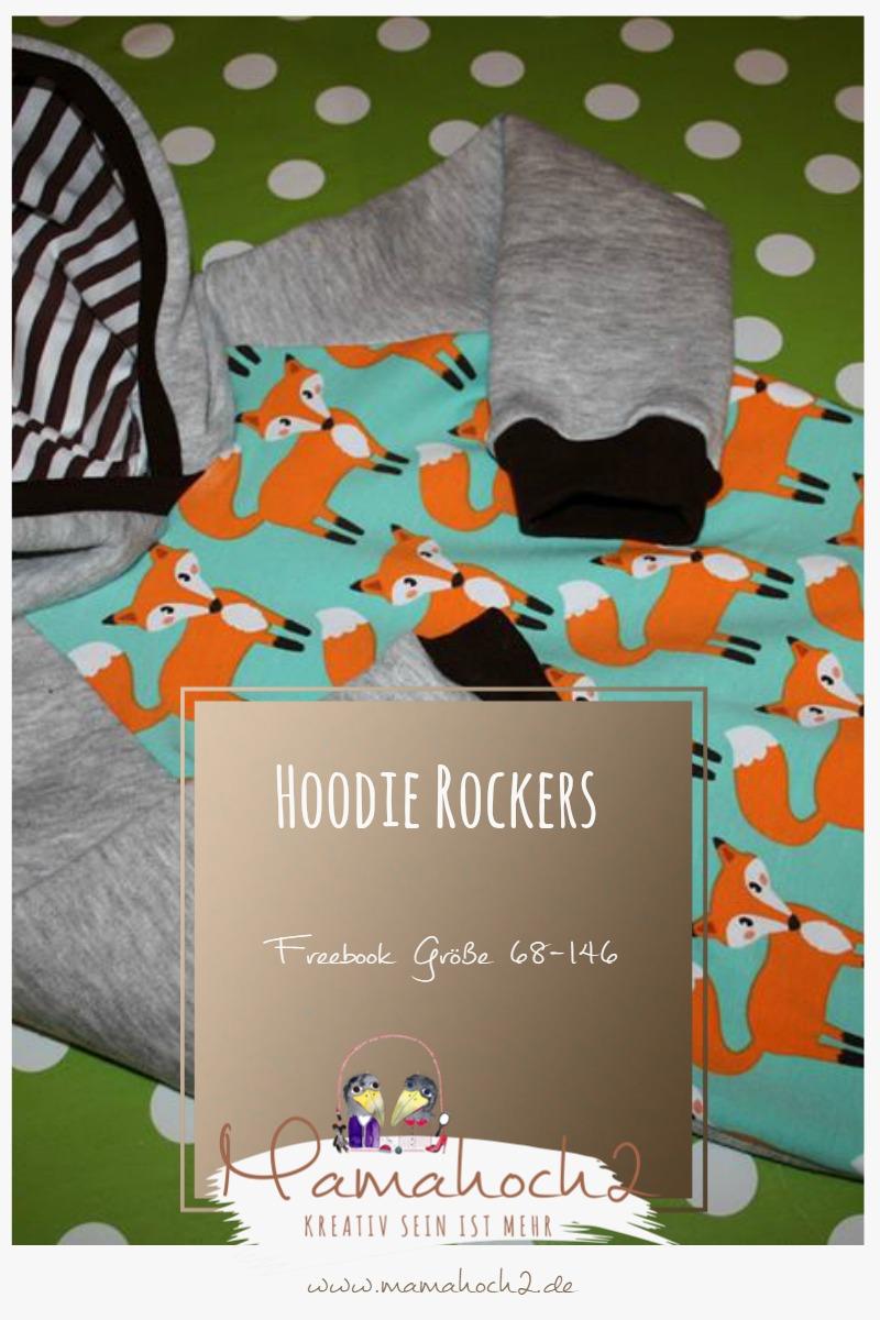 Hoodie Rockers – Kapuzenpullover Gr. 68-146 Freebook