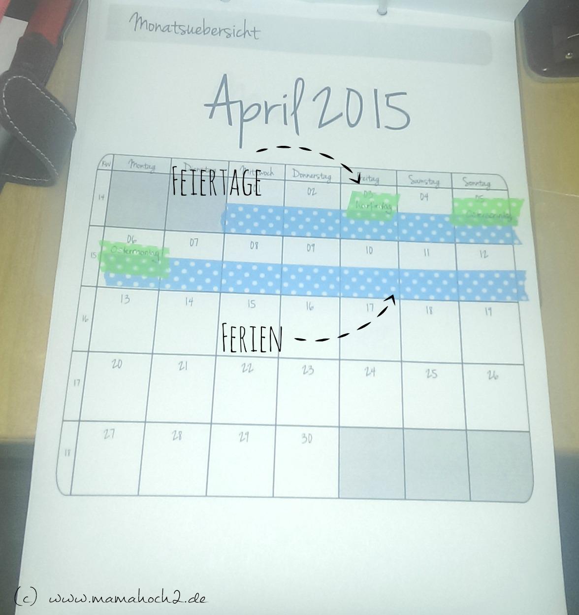 kalender mit washi tape selbermachen