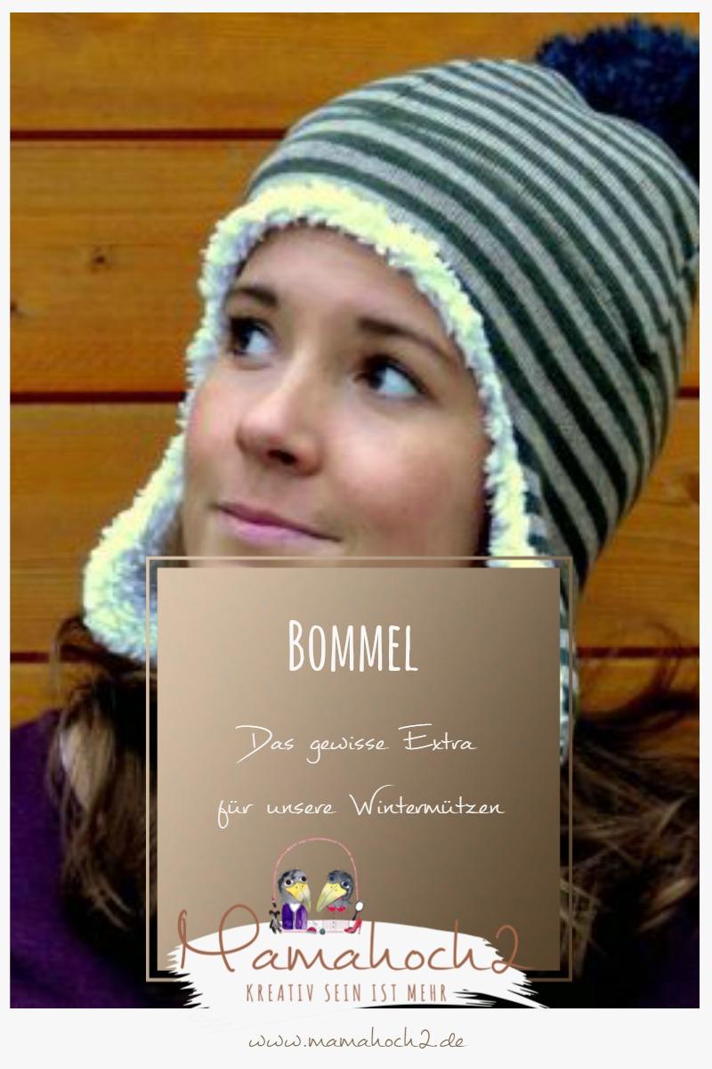 Anleitung Bommel nähen für Wintermützen