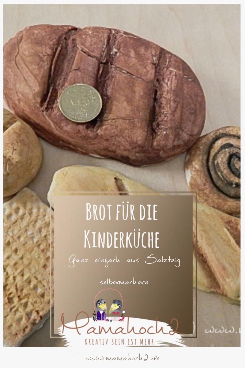 Brot für die Kinderküche aus Salzteig selbermachen – DIY Idee
