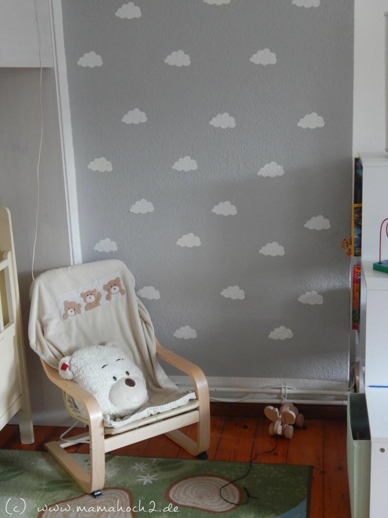 kinderzimmer ideen 1 wolkenwand tutorial plotter freebie mamahoch2. Black Bedroom Furniture Sets. Home Design Ideas