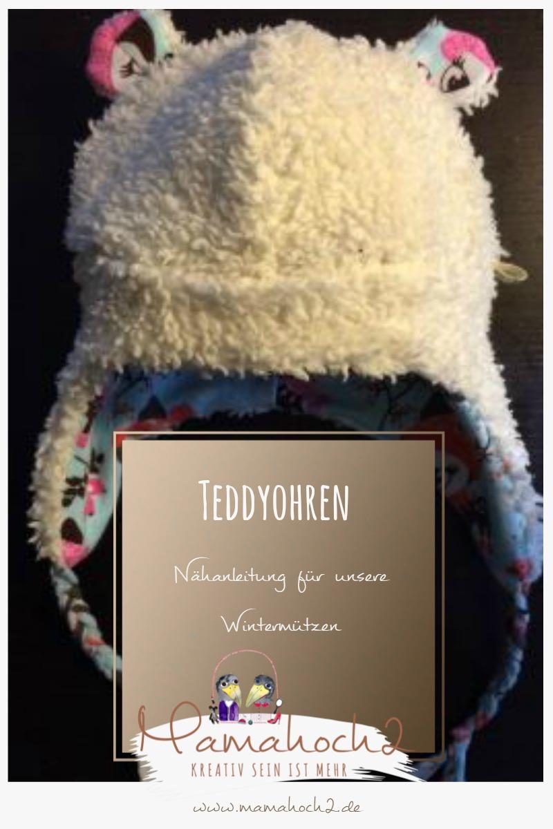 Nähanleitung für Teddyohren für unsere Mamahoch2 Wintermützen