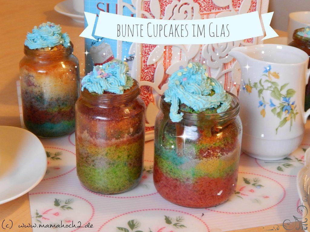 bunte cupcakes im glas