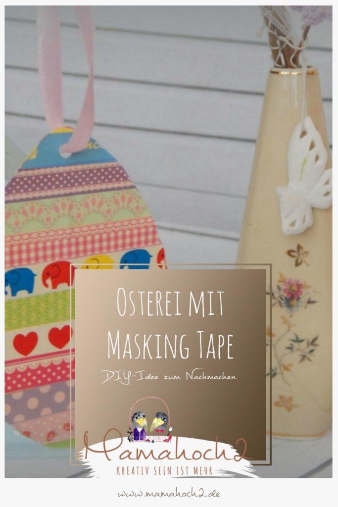 Ei mit Masking Tape osterei basteln mit kindern ostern 1