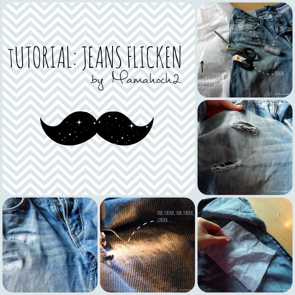 Collage Jeans flicken
