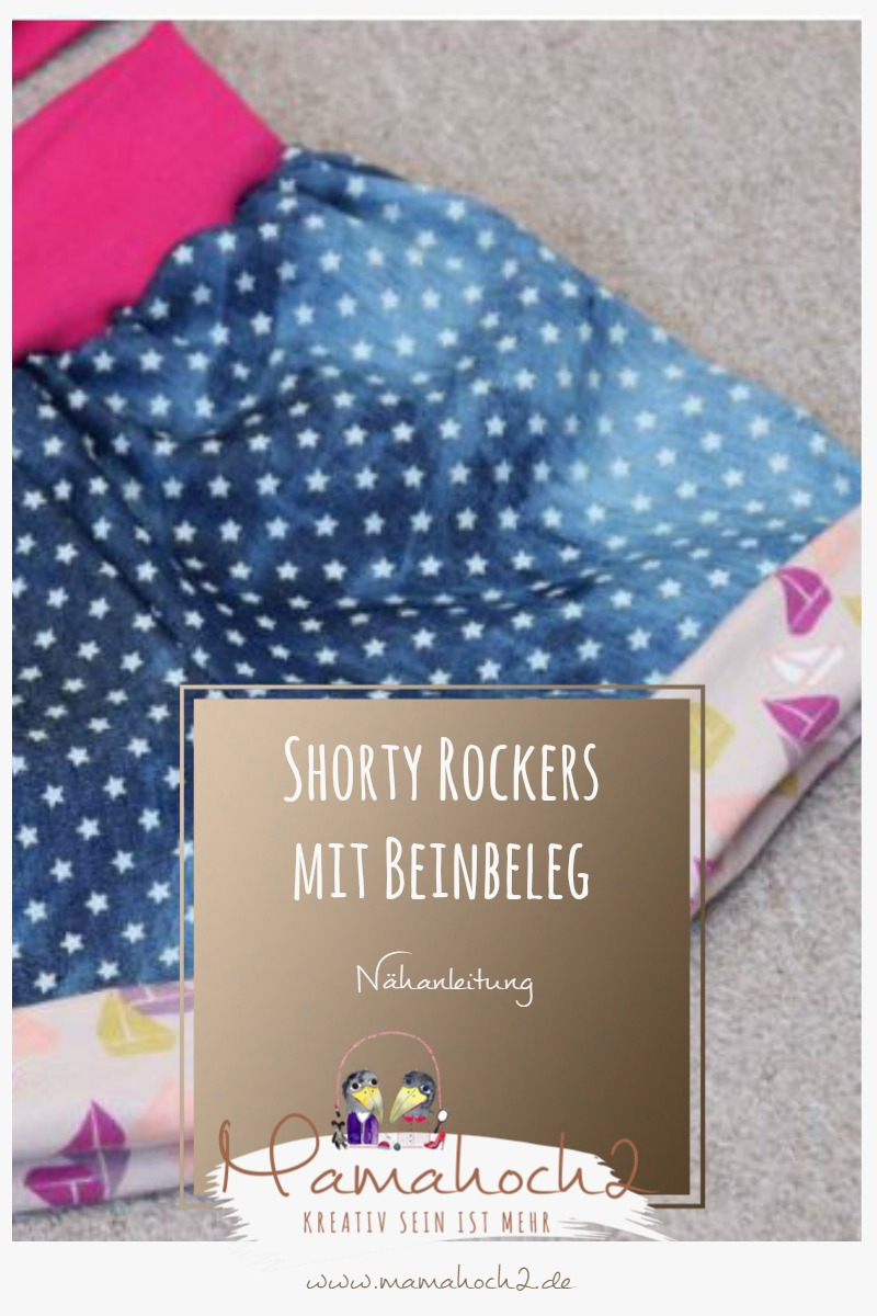 Nähanleitung Shorty Rockers mit Beinbeleg – kurze Hose für Kinder