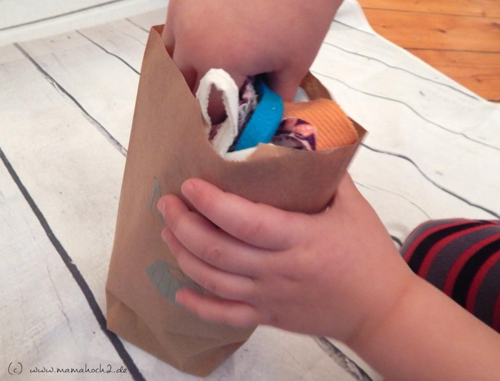 mit Kindern basteln Mehltüte