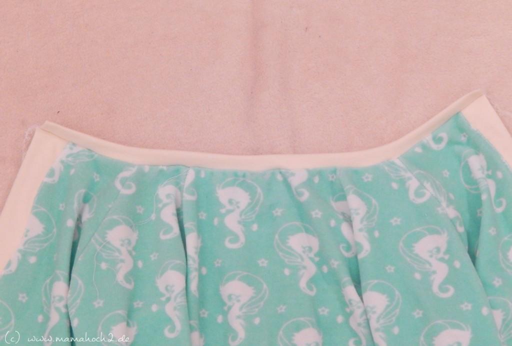 Halsbereich Schlafanzug nähen
