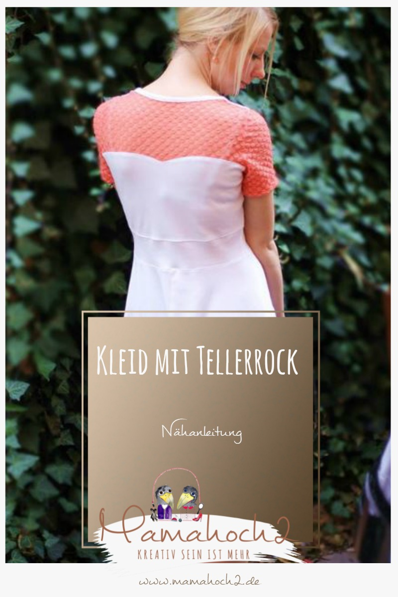 Nähanleitung Kleid mit Tellerrock