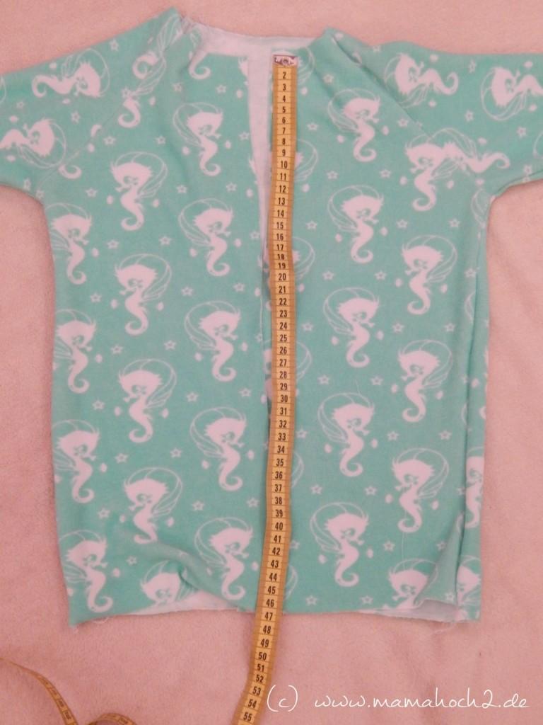 Schlafanzug nähen - einfassen der Kanten