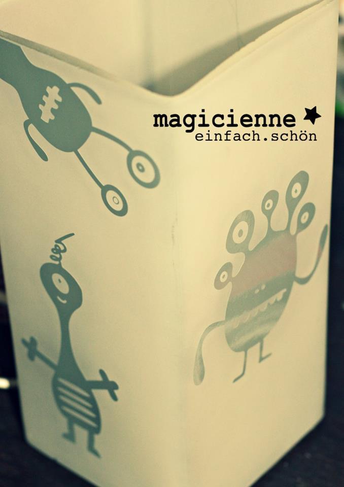Designbeispiel von Magicienne (Lampe von Ikea)