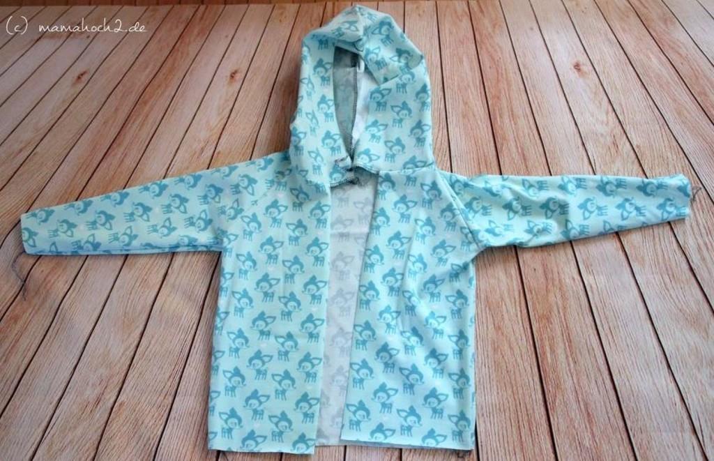 Tutorial: Jersey Kapuzenjacke mit Reißverschluss ⋆ Mamahoch2
