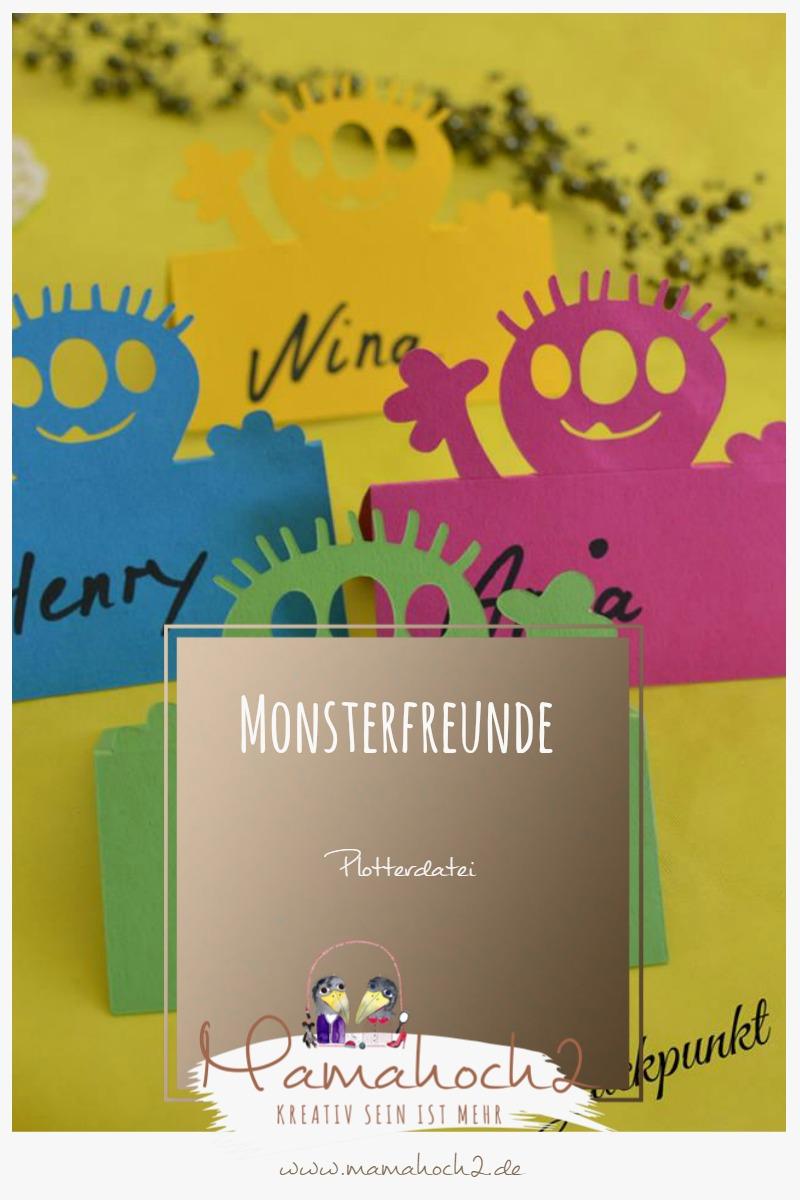 Mamahoch2 Plotterdatei Monsterfreunde