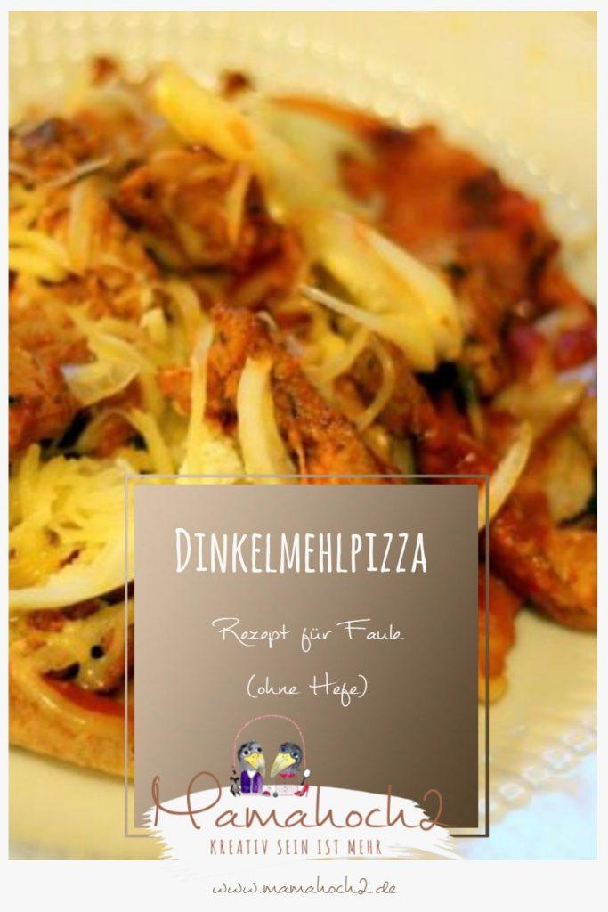 Rezept für Dinkelmehlpizza ohne Hefe