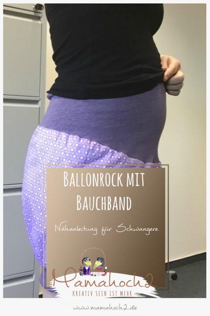 Ballonrock mit Bauchband – Nähanleitung für Schwangere