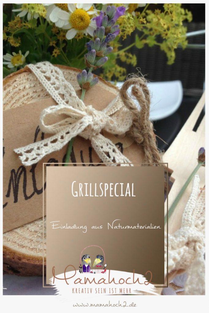 DIY Grillspecial – Einladung aus Naturmaterial