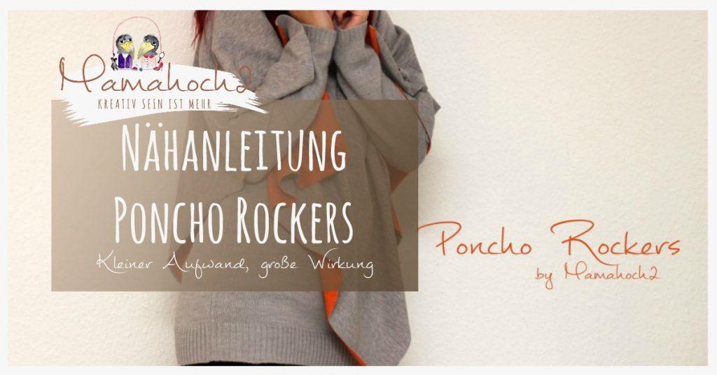 Poncho für den Herbst nähen: Unser Poncho Rockers ⋆ Mamahoch2
