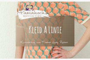 Kleid A Linie nähen Freebook