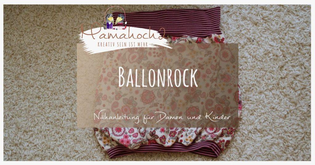 Nähanleitung Ballonrock nach Maß mit Video