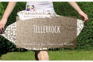 Nähanleitung Damenrock Kinderrock Tellerrock