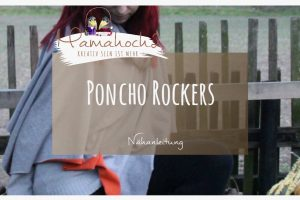 Nähanleitung Poncho Rockers Damen Kids Free