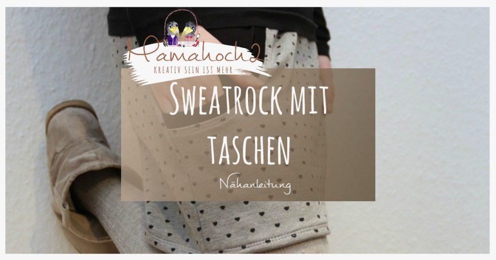 Nähanleitung Sweatrock mit großen Taschen