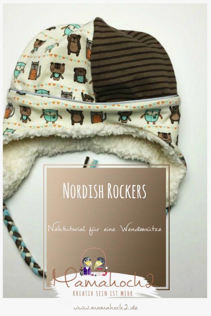Nähtutorial für die Mamahoch2 Nordish Rockers als Wendemütze